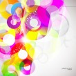 Vector abstract background with colorful circles — Stock Vector