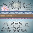 Calligraphic vintage design elements and page decoration. Vector — Stock Vector