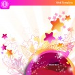 Colorful bubbles and stars — Vector de stock #6163435