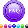 Stock Vector: FAQ circle button.