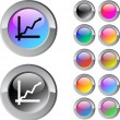Royalty-Free Stock Vector Image: Positive trend multicolor round button.