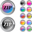 ZIP multicolor round button. — Stock Vector