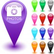 Photos button. — Imagen vectorial