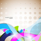 Vector colorful abstract background. Curves lines — Stock Vector