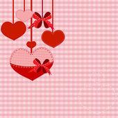 фон с сердечки — Cтоковый вектор