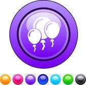 Botão de círculo de balões. — Vetorial Stock