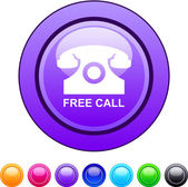 Free call circle button. — Stock Vector