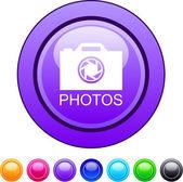 Bouton cercle photos. — Vecteur