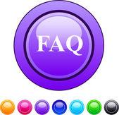 FAQ circle button. — Stock Vector