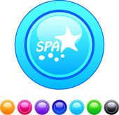 Spa circle button. — Stock Vector