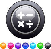 Calculate circle button. — Stock Vector