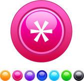 Asterisk circle button. — Stock Vector