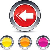 Back arrow round button. — Stock Vector