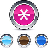 Asterisk round button. — Stock Vector