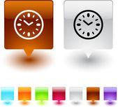 Time square button. — Stock Vector