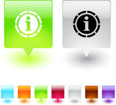 Informatie vierkante knop. — Stockvector