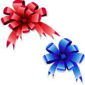 Red and blue bows — Stock Vector