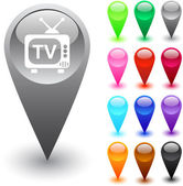 TV button. — Stock Vector