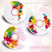 Vector CD cover design. Editable templates. Puzzle Design — Stock Vector