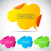 Origami speech cloud. Vector background — Stock Vector