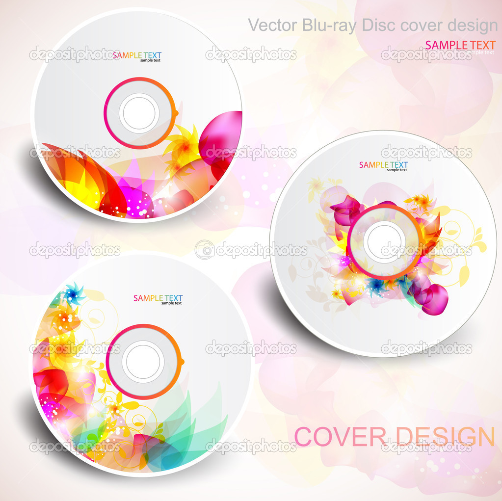 Vector CD cover design. Editable templates. Floral Design — Image vectorielle #6163345