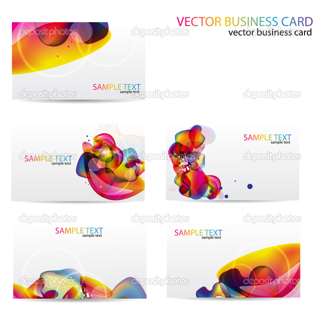 Modern Business-Card Set. Designed in the same style — Stock Vector #6163397