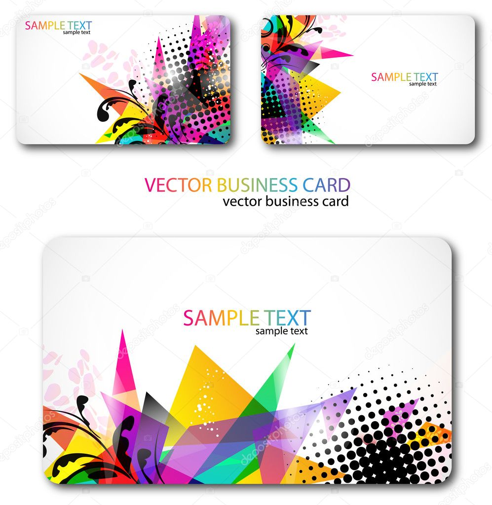 Modern Business-Card Set. Designed in the same style — Stock Vector #6163400