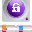 Unlock color round button. — Stockvector #6176749