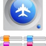 Aircraft color round button. — Stock Vector