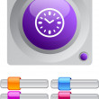 Stock Vector: Time color round button.