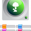 Stock Vector: Tree color round button.