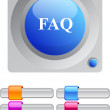 FAQ color round button. — Stock Vector #6176812