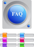 FAQ color round button. — Stock Vector
