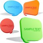 Colorful speech bubble. Set — Stock Vector