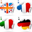 ������, ������: Stickers with symbols national flags