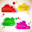 Royalty-Free Stock Vector Image: Paper speech bubble