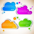 Paper speech bubble — Stock Vector