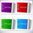Stock Vector: Colorful labels set