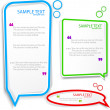 Royalty-Free Stock Imagem Vetorial: Colorful Speech frame for text
