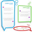 Colorful Speech frame for text — Imagen vectorial