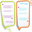 Colorful speech frames - Imagen vectorial