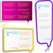 Colorful speech frames — Stock Vector