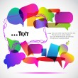 Royalty-Free Stock Imagen vectorial: Colorful bubbles for speech