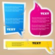 Colorful paper bubble for speech — Vettoriali Stock