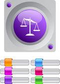 Balance color round button. — Stock Vector