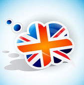Flag of the United Kingdom. Speech bubble — Stock Vector