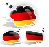 Flag of Germany. Speech bubble — Stock Vector