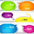 Colorful  bubble for speech. Set of banners — Stock Vector