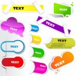 Colorful paper bookmarks. Vector set — Stock Vector