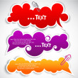 Paper speech bubble — Stock Vector #6572005